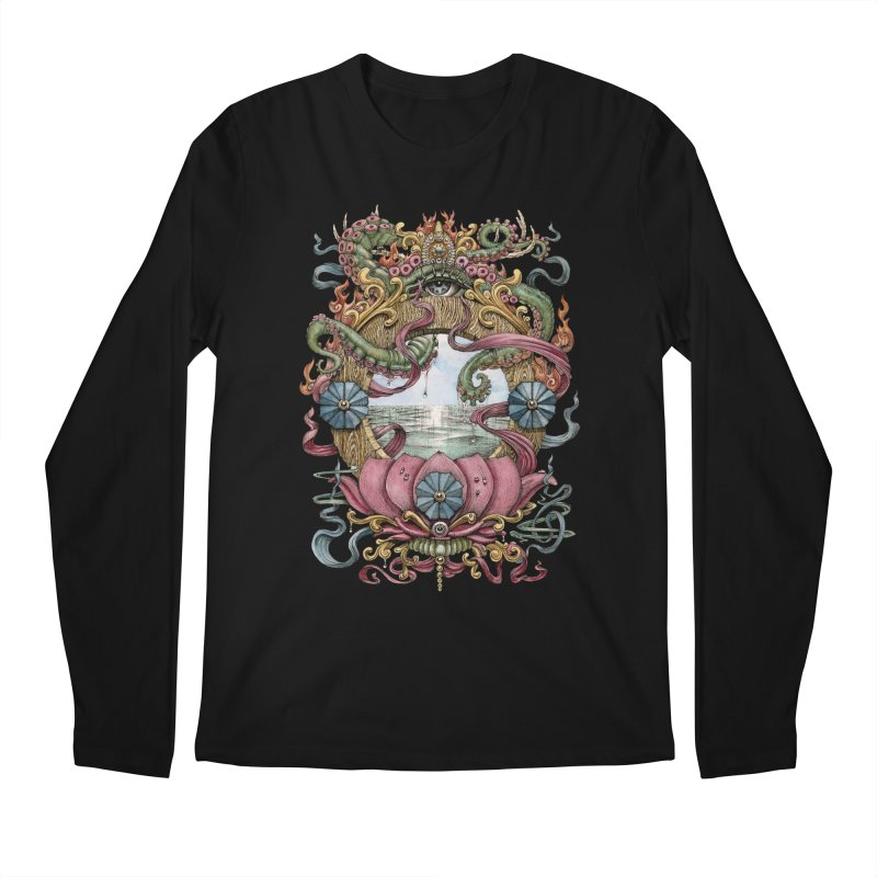 Writhing Waters XVII (Lotus Pearl) Men's Regular Longsleeve T-Shirt by Jason Brammer's Shop