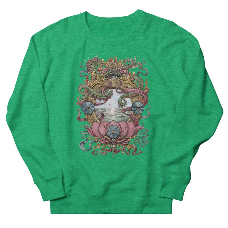 Writhing Waters XVII (Lotus Pearl) Women's French Terry Sweatshirt by Jason Brammer's Shop
