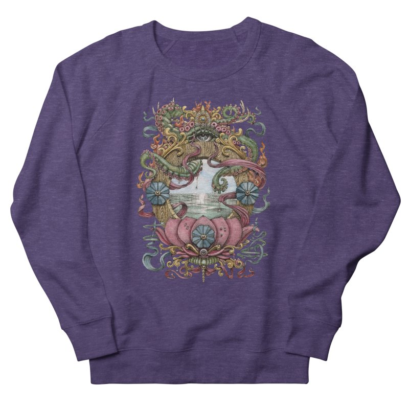 Writhing Waters XVII (Lotus Pearl) Men's French Terry Sweatshirt by Jason Brammer's Shop