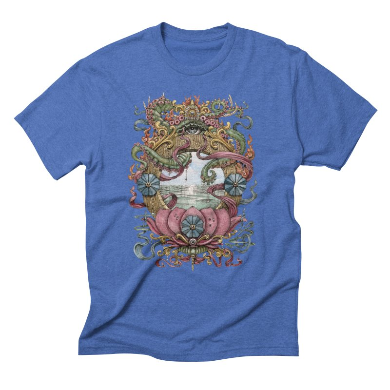 Writhing Waters XVII (Lotus Pearl) Men's Triblend T-Shirt by Jason Brammer's Shop