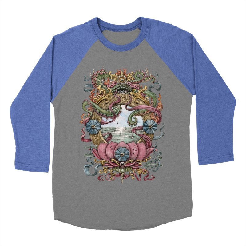 Writhing Waters XVII (Lotus Pearl) Men's Baseball Triblend Longsleeve T-Shirt by Jason Brammer's Shop