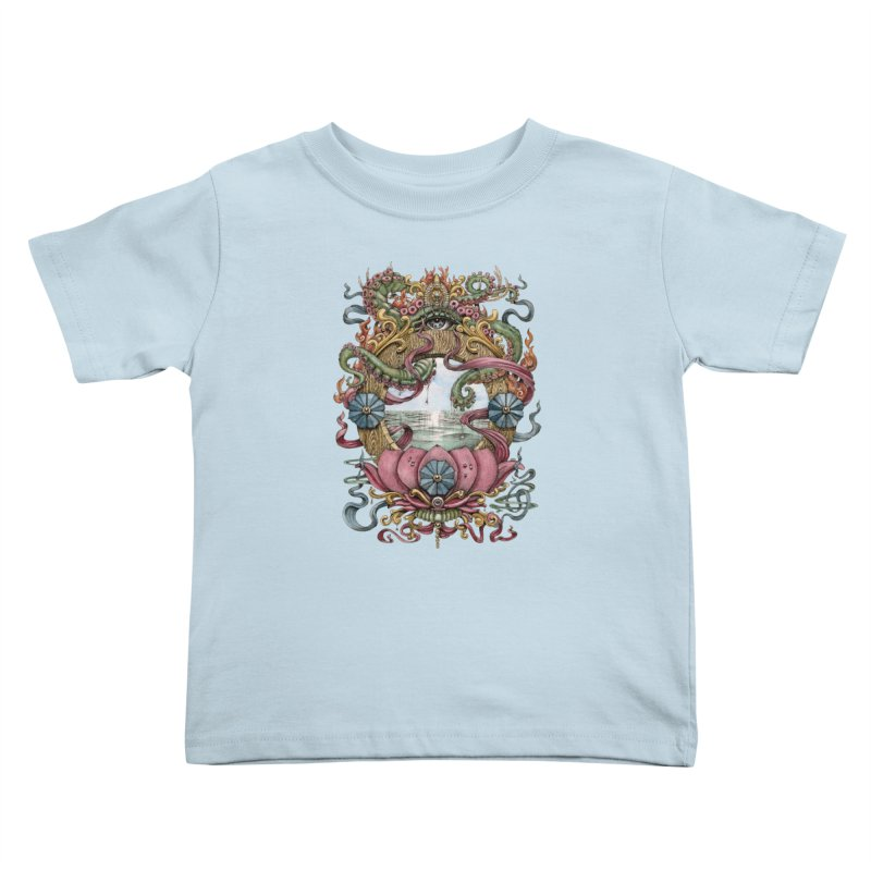 Writhing Waters XVII (Lotus Pearl) Kids Toddler T-Shirt by Jason Brammer's Shop