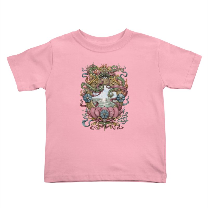 Writhing Waters XVII (Lotus Pearl) Kids Toddler T-Shirt by Jason Brammer's Shop