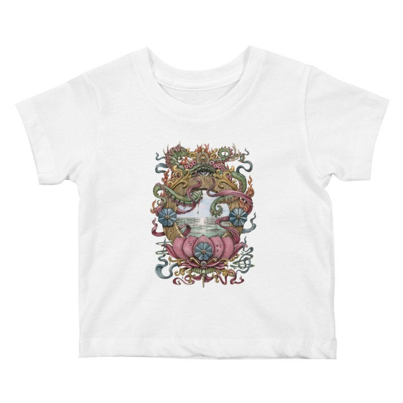 Writhing Waters XVII (Lotus Pearl) Kids Baby T-Shirt by Jason Brammer's Shop