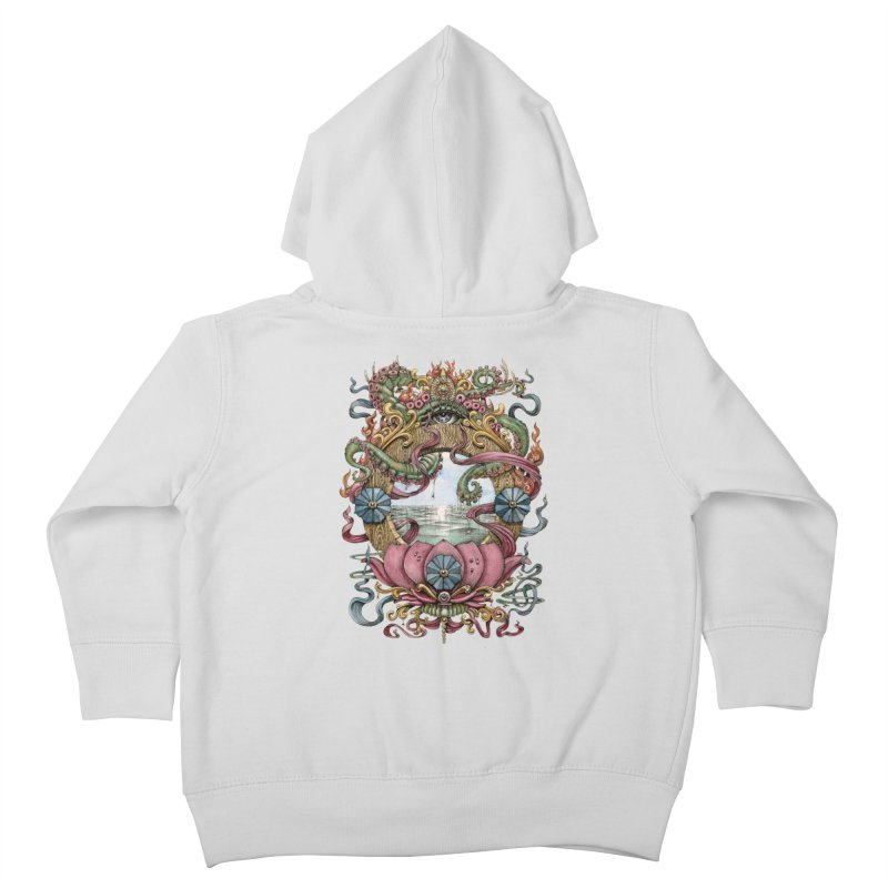 Writhing Waters XVII (Lotus Pearl) Kids Toddler Zip-Up Hoody by Jason Brammer's Shop
