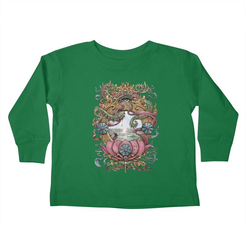 Writhing Waters XVII (Lotus Pearl) Kids Toddler Longsleeve T-Shirt by Jason Brammer's Shop