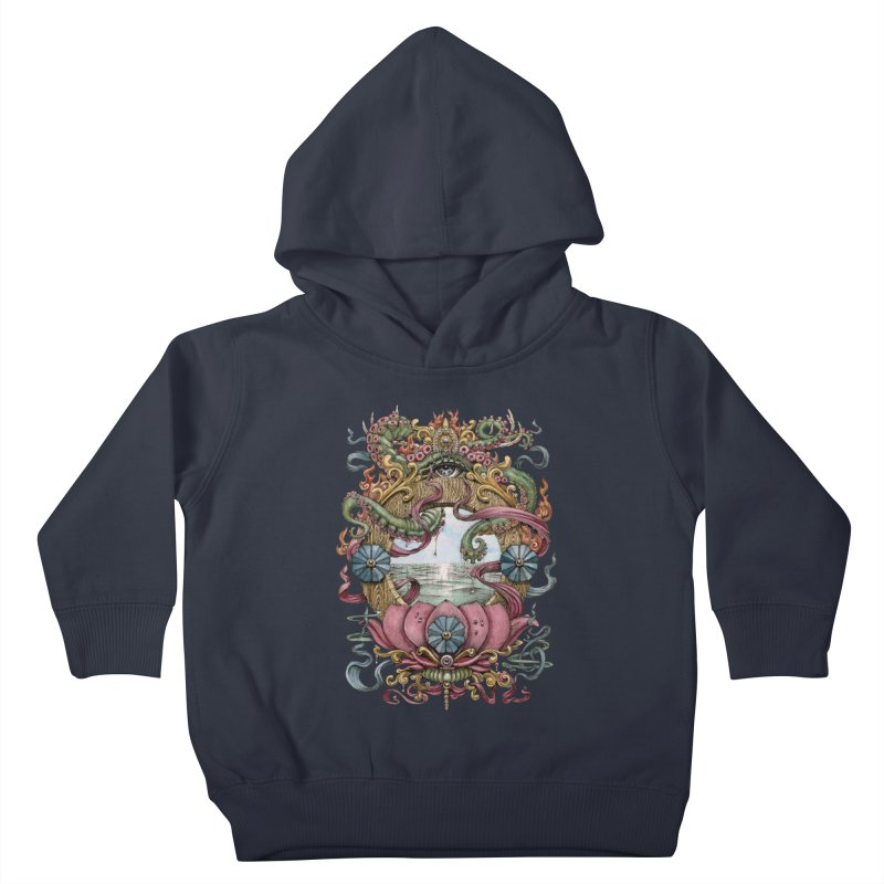 Writhing Waters XVII (Lotus Pearl) Kids Toddler Pullover Hoody by Jason Brammer's Shop