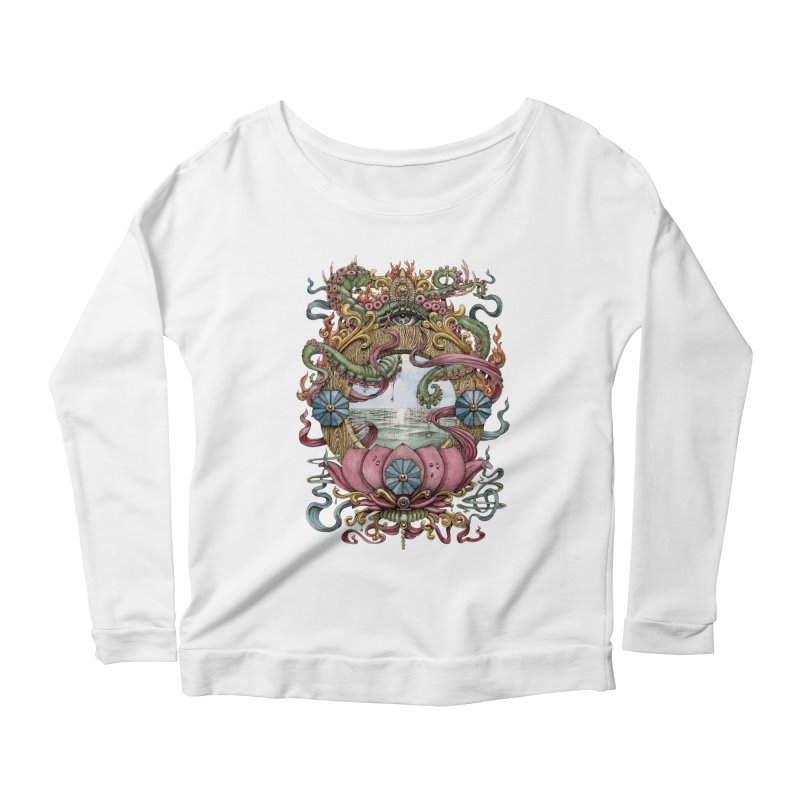 Writhing Waters XVII (Lotus Pearl) Women's Scoop Neck Longsleeve T-Shirt by Jason Brammer's Shop