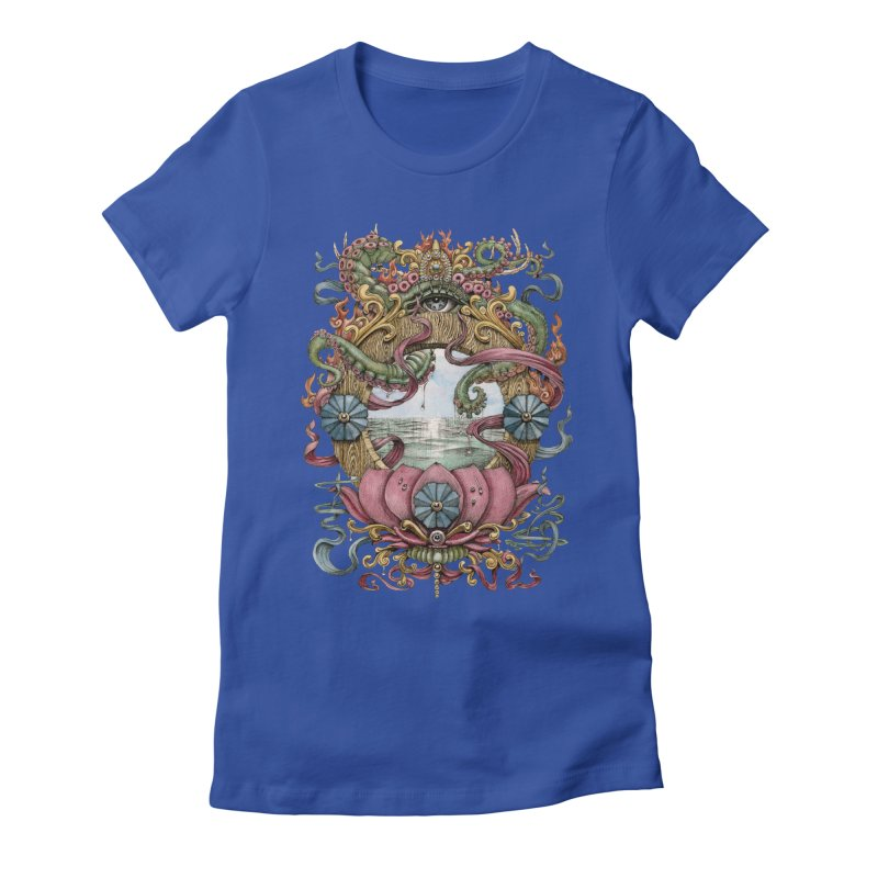 Writhing Waters XVII (Lotus Pearl) Women's Fitted T-Shirt by Jason Brammer's Shop