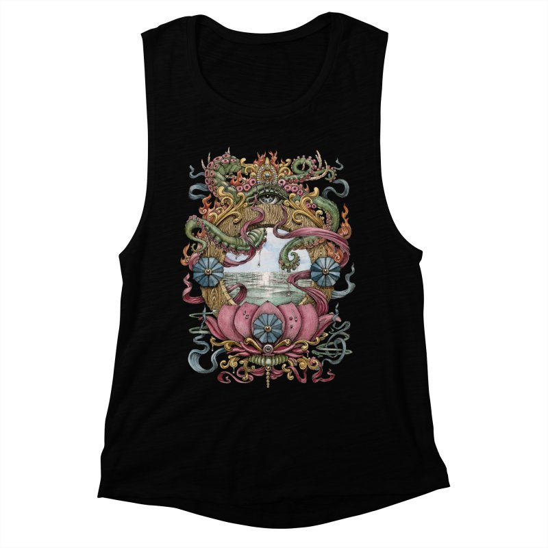 Writhing Waters XVII (Lotus Pearl) Women's Muscle Tank by Jason Brammer's Shop