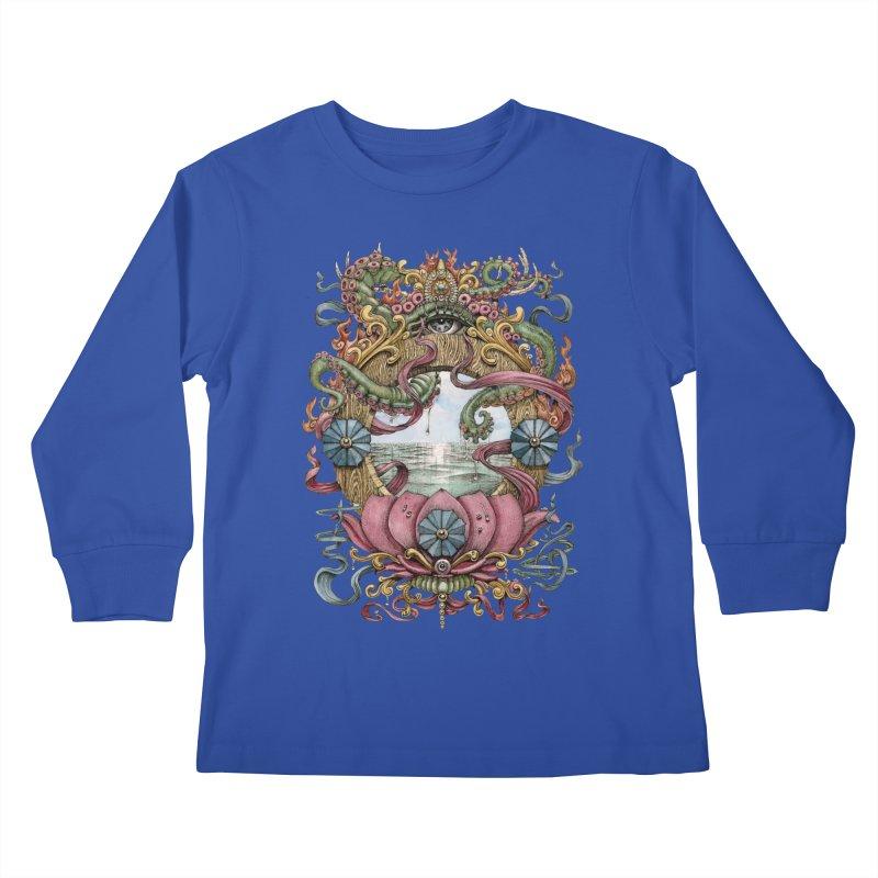 Writhing Waters XVII (Lotus Pearl) Kids Longsleeve T-Shirt by Jason Brammer's Shop
