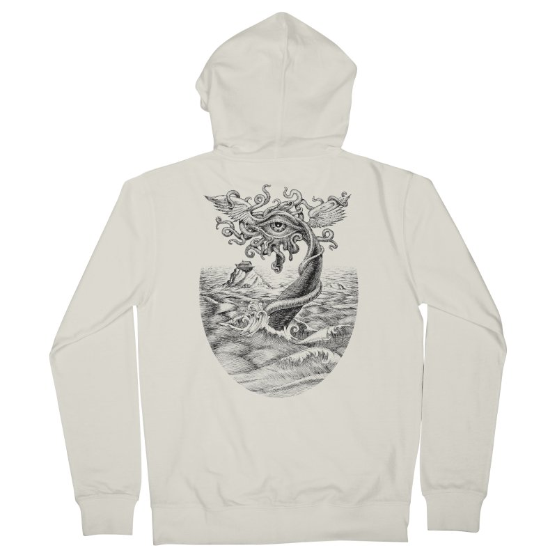 Birth of the Sonic Swan Deity Men's French Terry Zip-Up Hoody by Jason Brammer's Shop