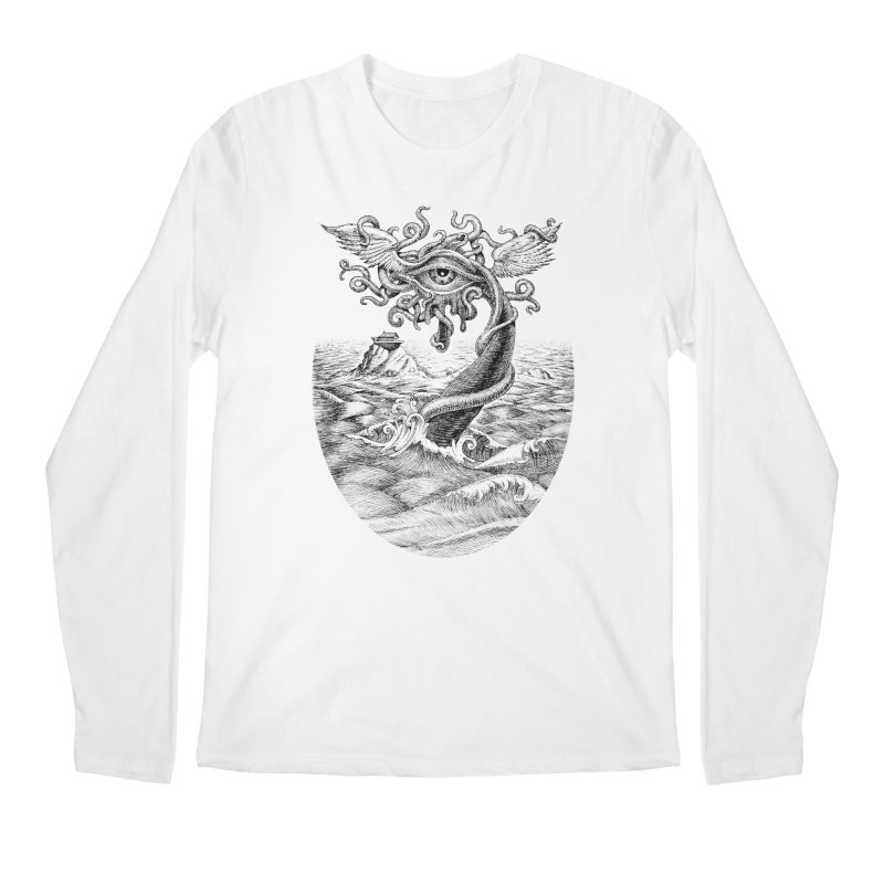Birth of the Sonic Swan Deity Men's Regular Longsleeve T-Shirt by Jason Brammer's Shop