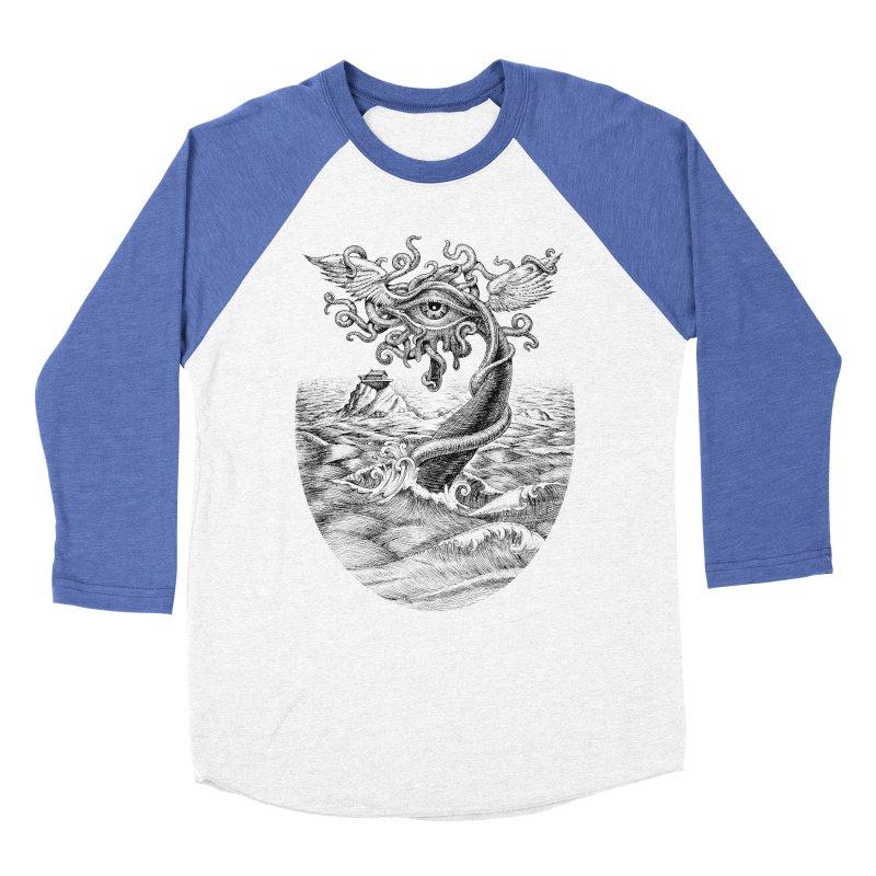 Birth of the Sonic Swan Deity Men's Baseball Triblend Longsleeve T-Shirt by Jason Brammer's Shop