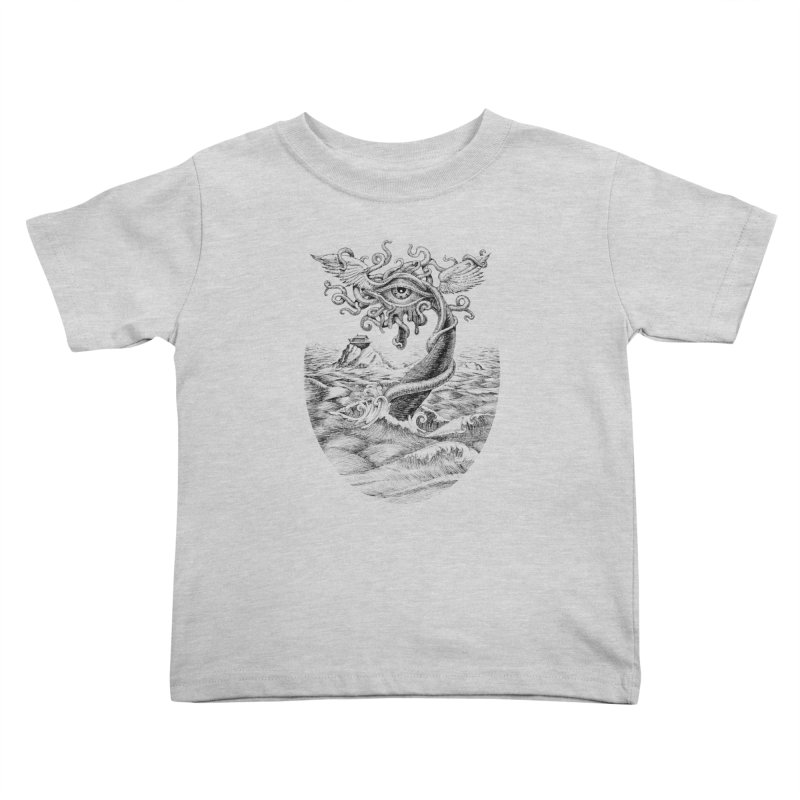 Birth of the Sonic Swan Deity Kids Toddler T-Shirt by Jason Brammer's Shop