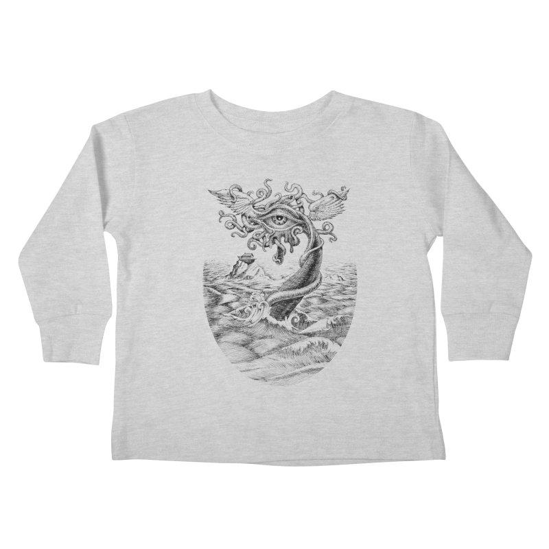 Birth of the Sonic Swan Deity Kids Toddler Longsleeve T-Shirt by Jason Brammer's Shop