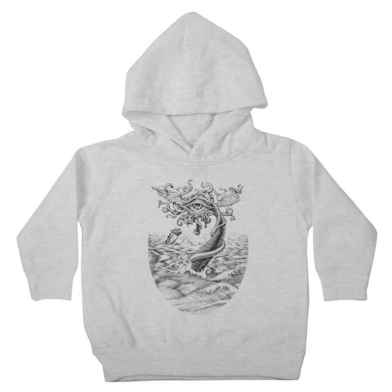 Birth of the Sonic Swan Deity Kids Toddler Pullover Hoody by Jason Brammer's Shop