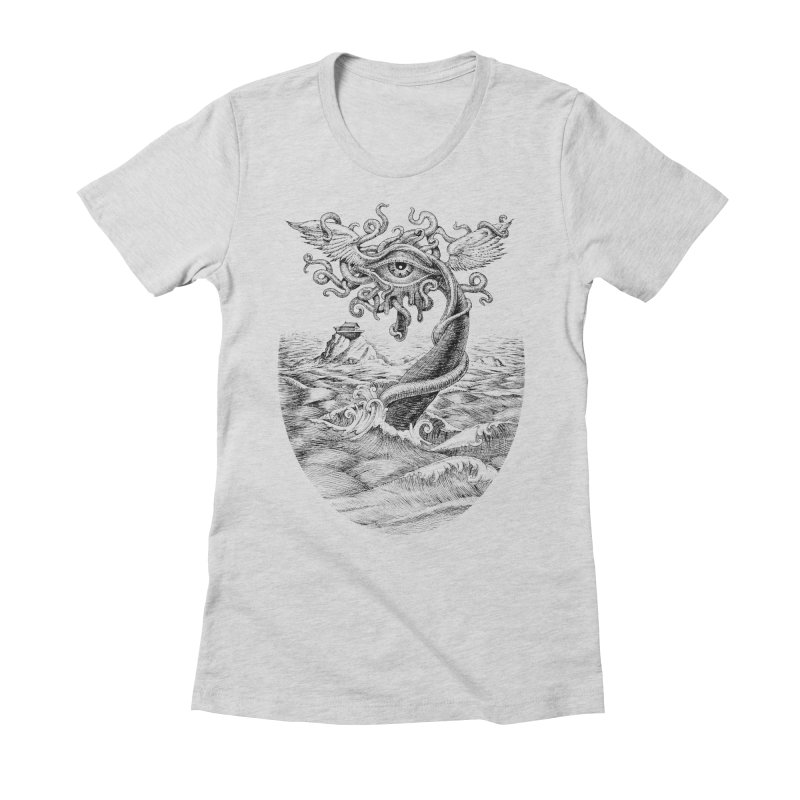 Birth of the Sonic Swan Deity Women's Fitted T-Shirt by Jason Brammer's Shop