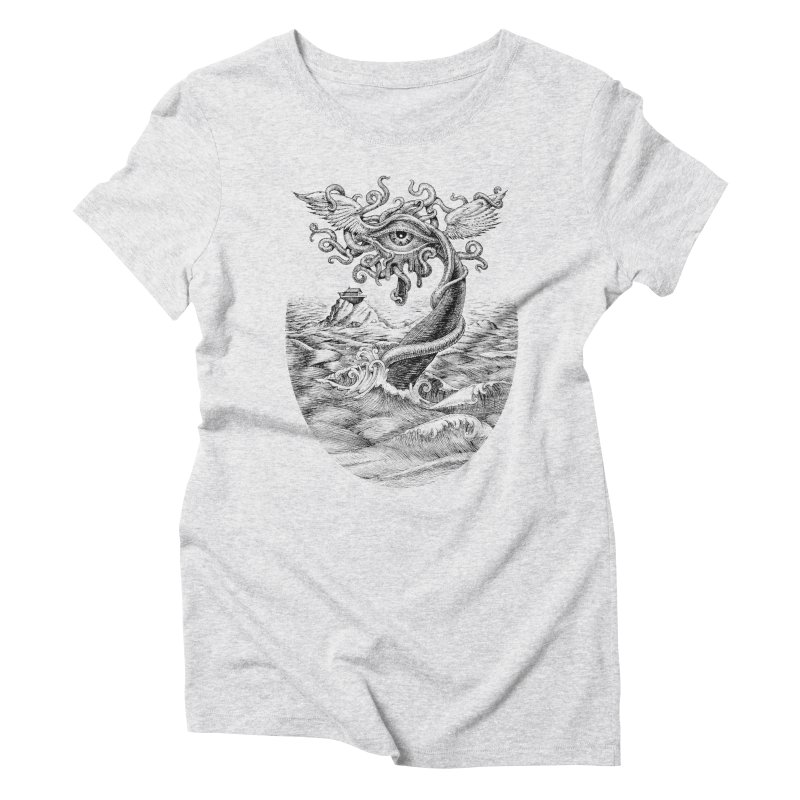 Birth of the Sonic Swan Deity Women's Triblend T-Shirt by Jason Brammer's Shop