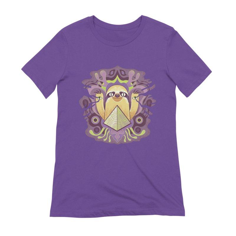Interdimensional sloth Women's Extra Soft T-Shirt by Jason Castillo Illustration
