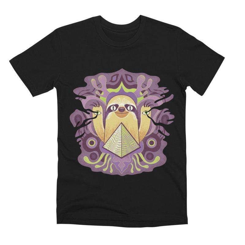 Interdimensional sloth Men's Premium T-Shirt by Jason Castillo Illustration