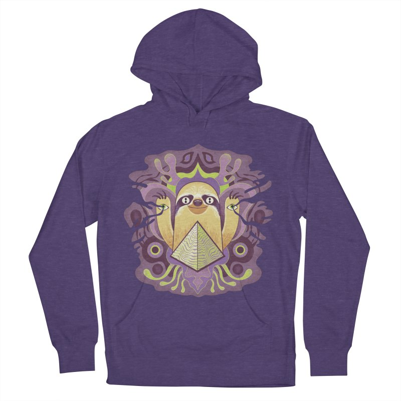 Interdimensional sloth Men's French Terry Pullover Hoody by Jason Castillo Illustration