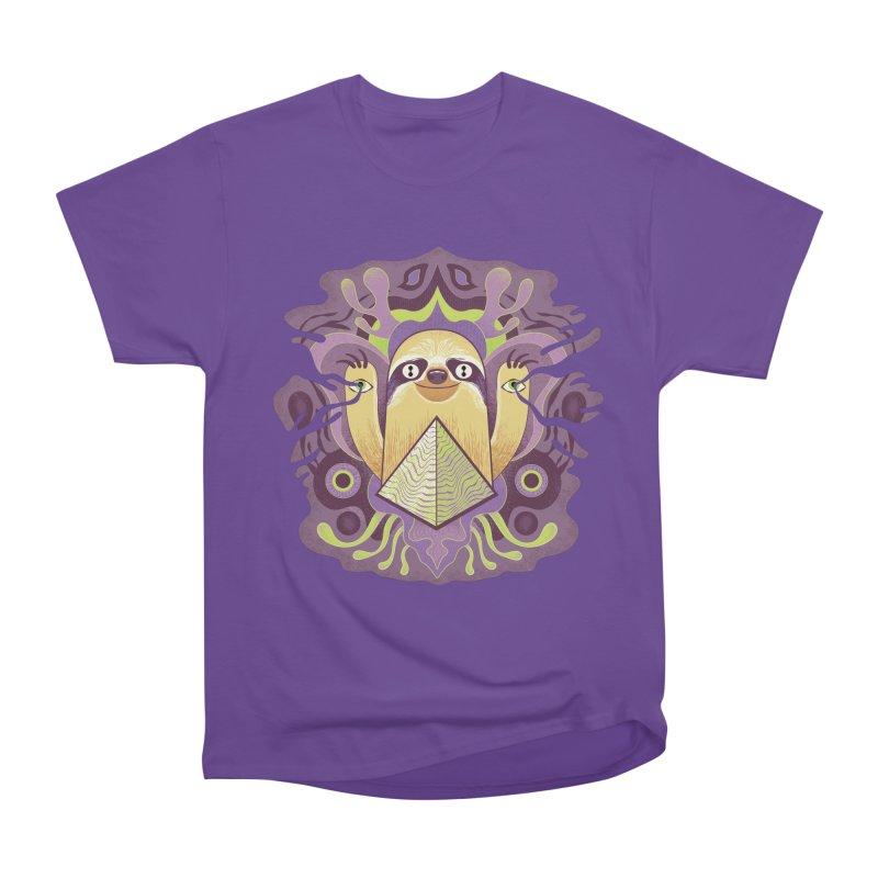 Interdimensional sloth Women's Heavyweight Unisex T-Shirt by Jason Castillo Illustration