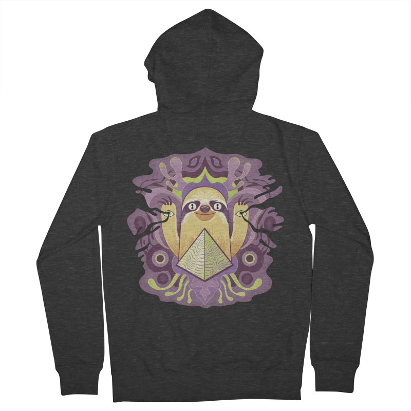 Interdimensional sloth Women's French Terry Zip-Up Hoody by Jason Castillo Illustration