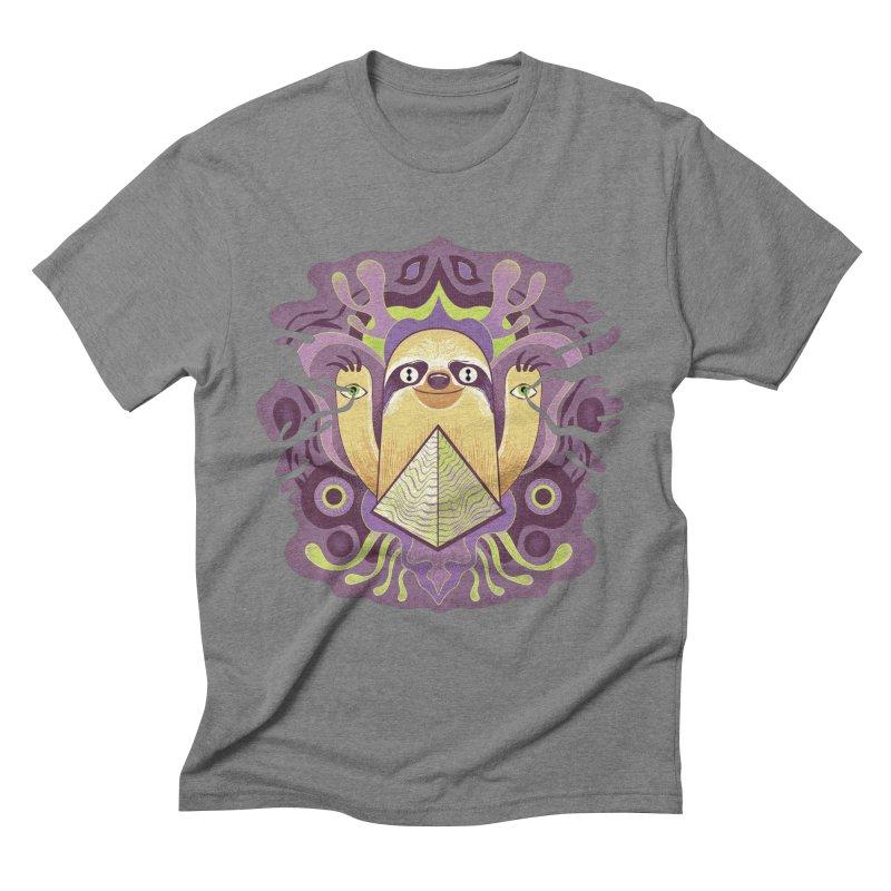 Interdimensional sloth Men's Triblend T-Shirt by Jason Castillo Illustration
