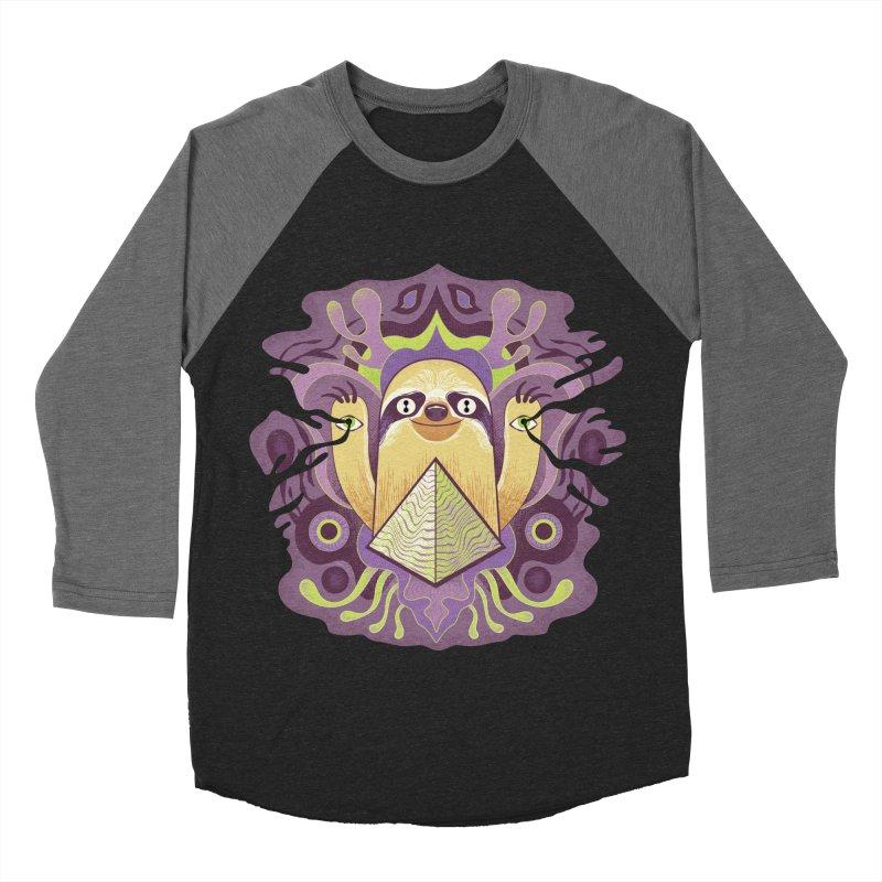 Interdimensional sloth Women's Baseball Triblend Longsleeve T-Shirt by Jason Castillo Illustration
