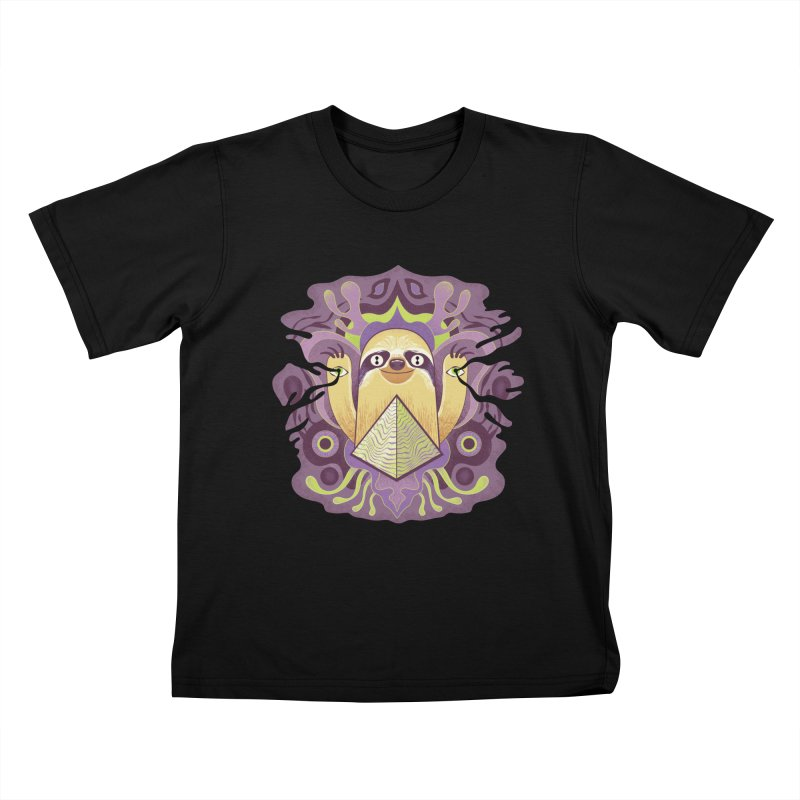Interdimensional sloth Kids T-Shirt by Jason Castillo Illustration