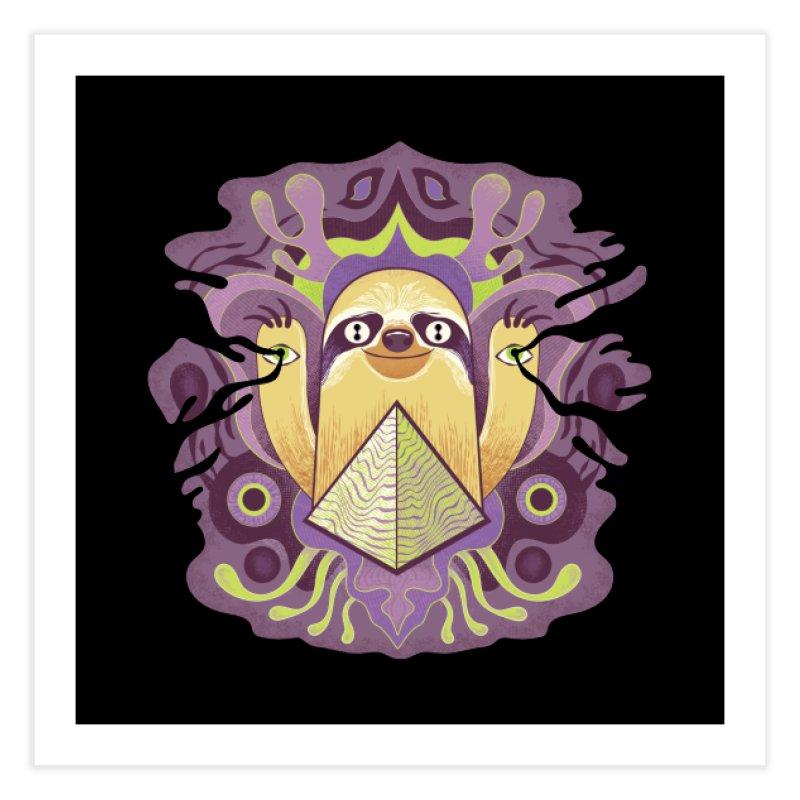 Interdimensional sloth Home Fine Art Print by Jason Castillo Illustration