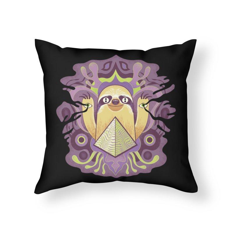 Interdimensional sloth Home Throw Pillow by Jason Castillo Illustration