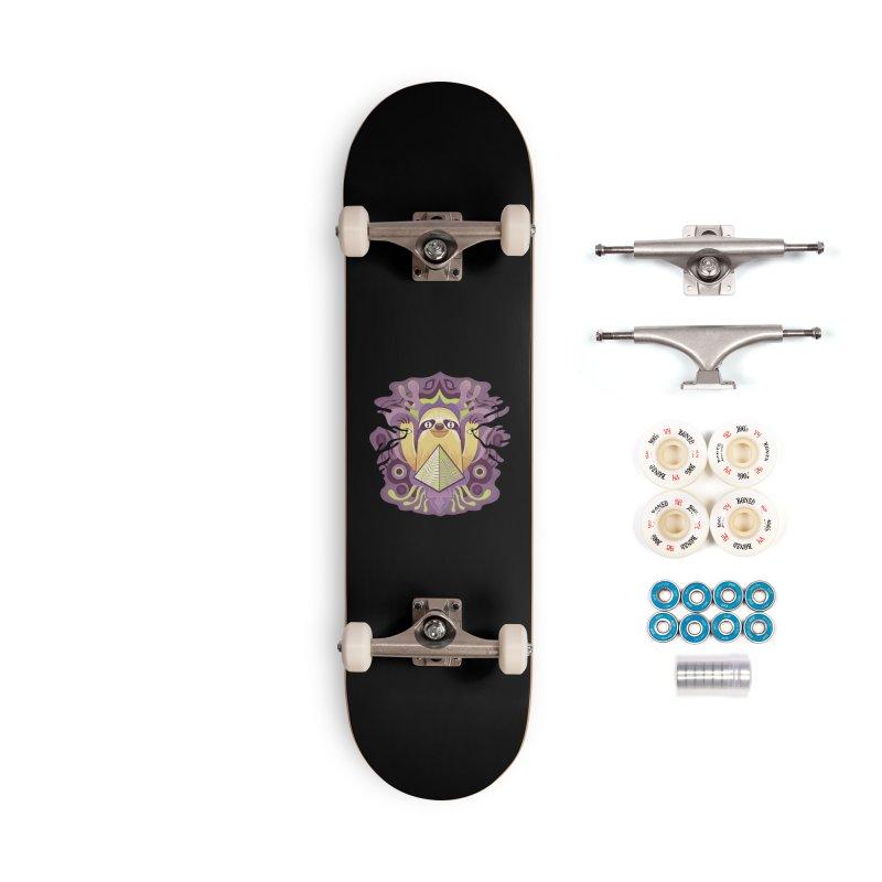 Interdimensional sloth Accessories Complete - Premium Skateboard by Jason Castillo Illustration