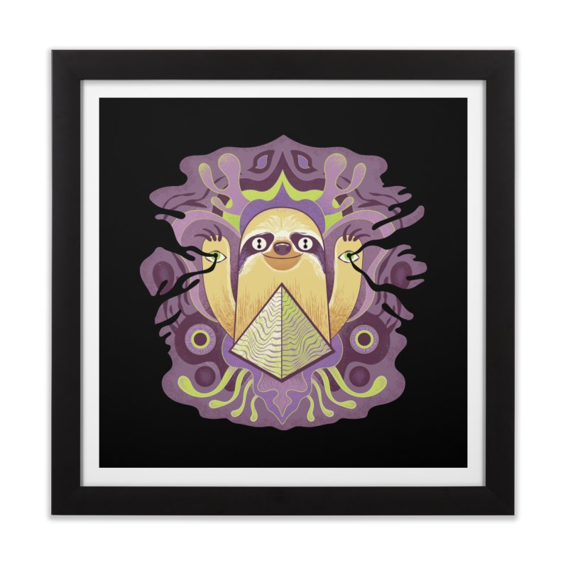 Interdimensional sloth Home Framed Fine Art Print by Jason Castillo Illustration