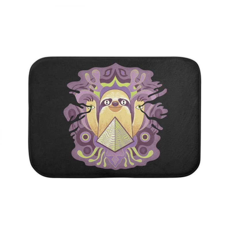 Interdimensional sloth Home Bath Mat by Jason Castillo Illustration