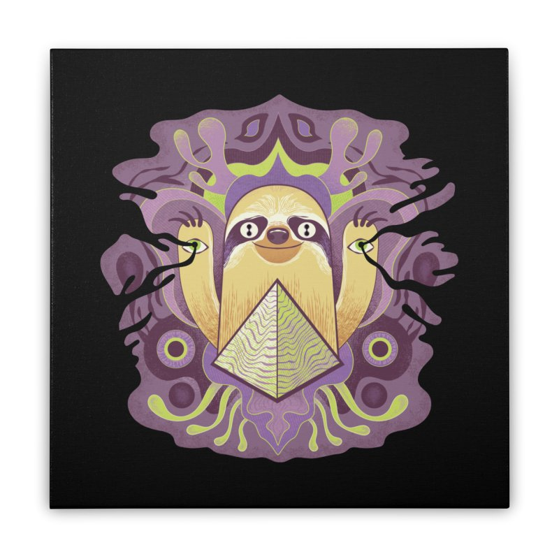 Interdimensional sloth Home Stretched Canvas by Jason Castillo Illustration