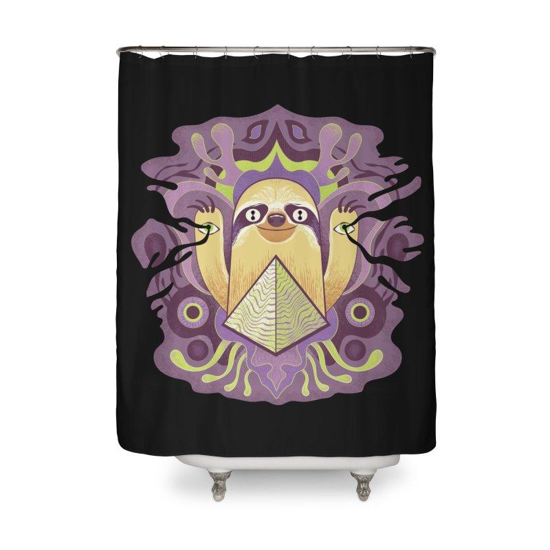 Interdimensional sloth Home Shower Curtain by Jason Castillo Illustration