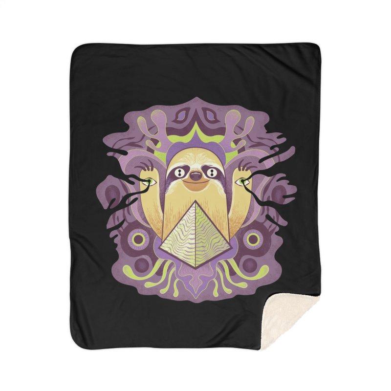 Interdimensional sloth Home Sherpa Blanket Blanket by Jason Castillo Illustration