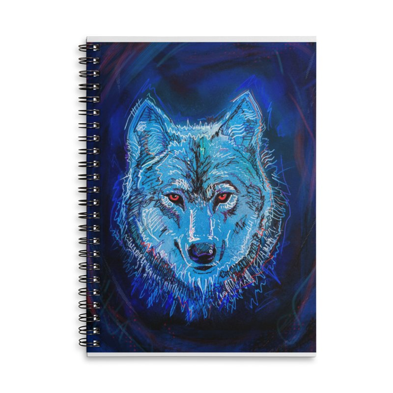 The Watcher Accessories Lined Spiral Notebook by Jason Castillo Illustration