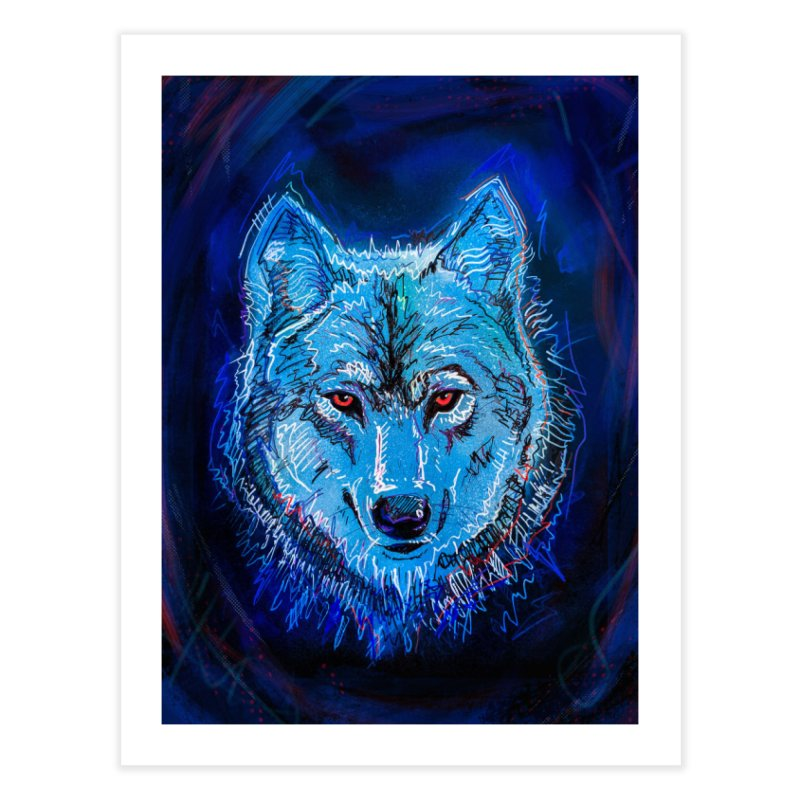 The Watcher Home Fine Art Print by Jason Castillo Illustration