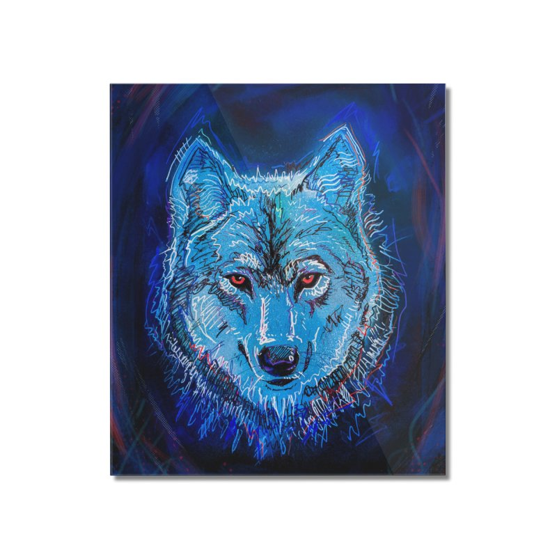 The Watcher Home Mounted Acrylic Print by Jason Castillo Illustration