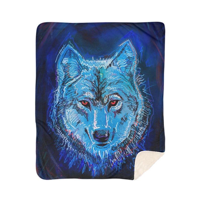 The Watcher Home Sherpa Blanket Blanket by Jason Castillo Illustration