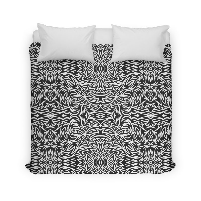 Trippy Pattern One Home Duvet by Jason Castillo Illustration