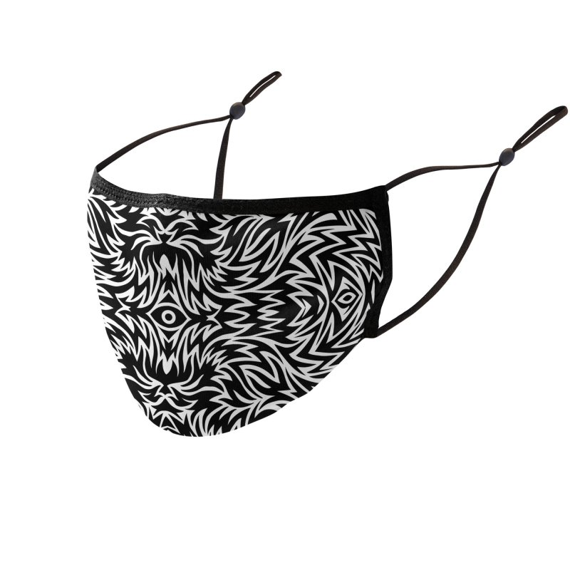 Trippy Pattern One Accessories Face Mask by Jason Castillo Illustration