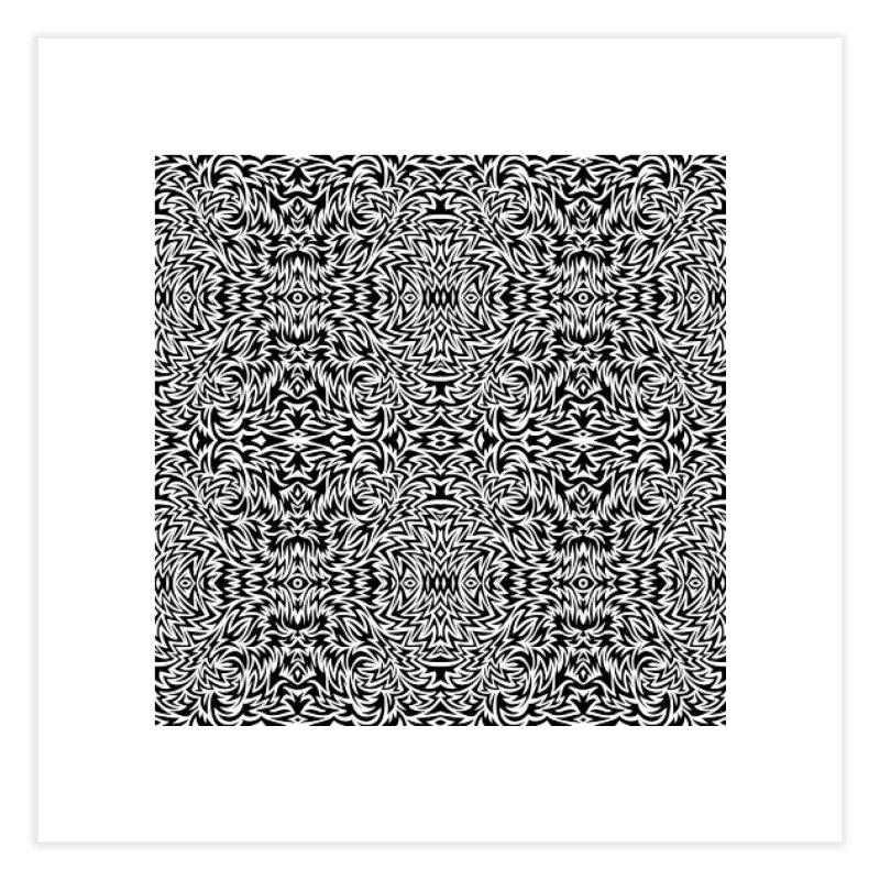 Trippy Pattern One Home Fine Art Print by Jason Castillo Illustration
