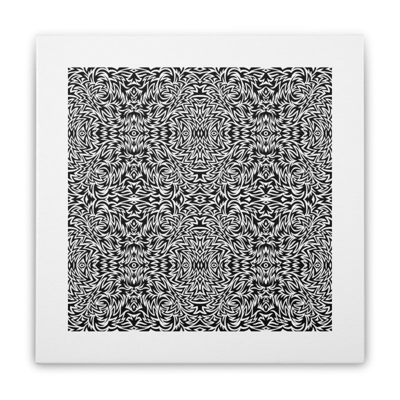 Trippy Pattern One Home Stretched Canvas by Jason Castillo Illustration