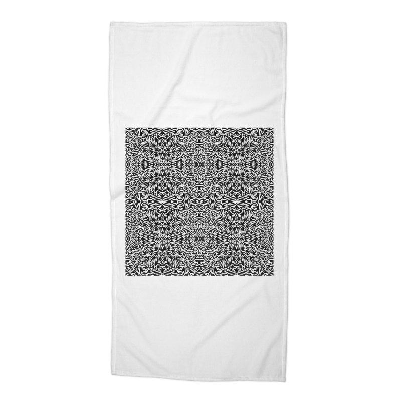 Trippy Pattern One Accessories Beach Towel by Jason Castillo Illustration