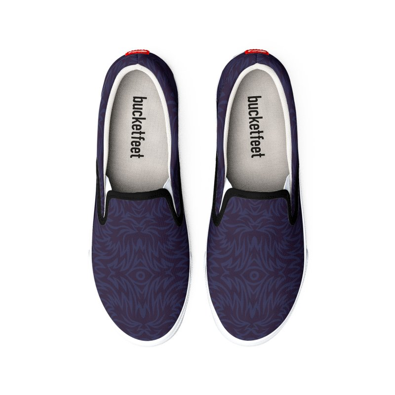 Midnight Blue Trippy Pattern Women's Shoes by Jason Castillo Illustration