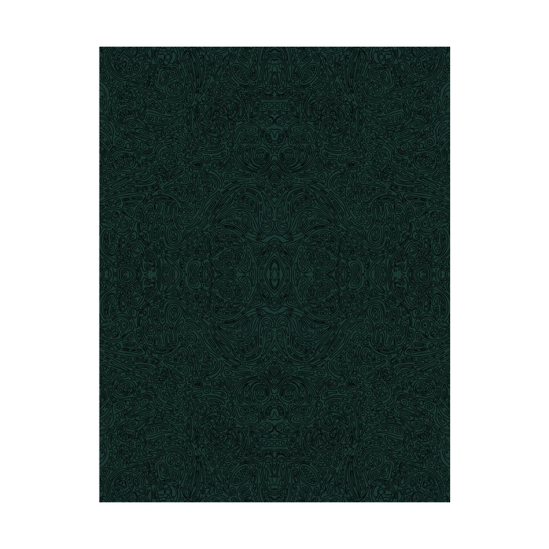 Moss Green Cellular Pattern Home Blanket by Jason Castillo Illustration
